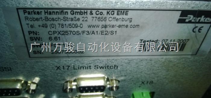 CPX2570S/F3/A1/E2/S1-派克parker伺服驱动器维修广州佛山江门parker伺服控制器过流过压维修厂家