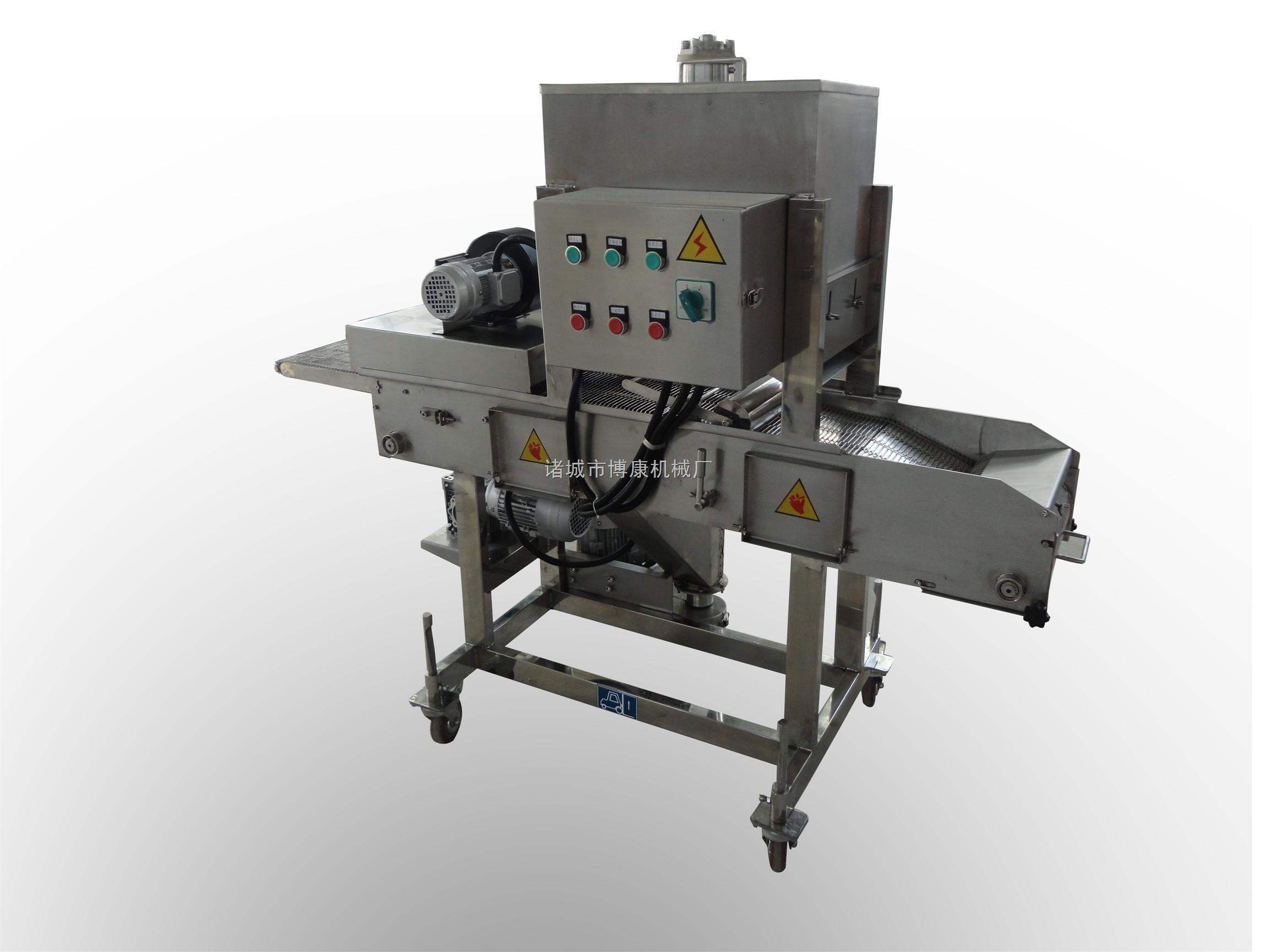 生产制造全自动鸡腿、鸡排上糠机、上粉机