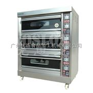优思龙三层六盘经济款大玻璃燃气层炉 烤炉烤箱焗炉 面包烘焙机CB-Q306