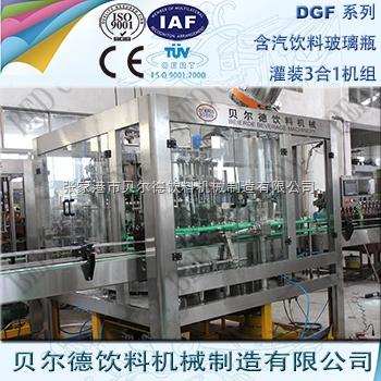 碳酸饮料灌装生产线全自动玻璃瓶装汽酒生产线