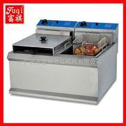 【广州富祺】DF-904台式双缸双筛电炸炉 商用电炸炉 炸鸡炸鸭炉 品质保证