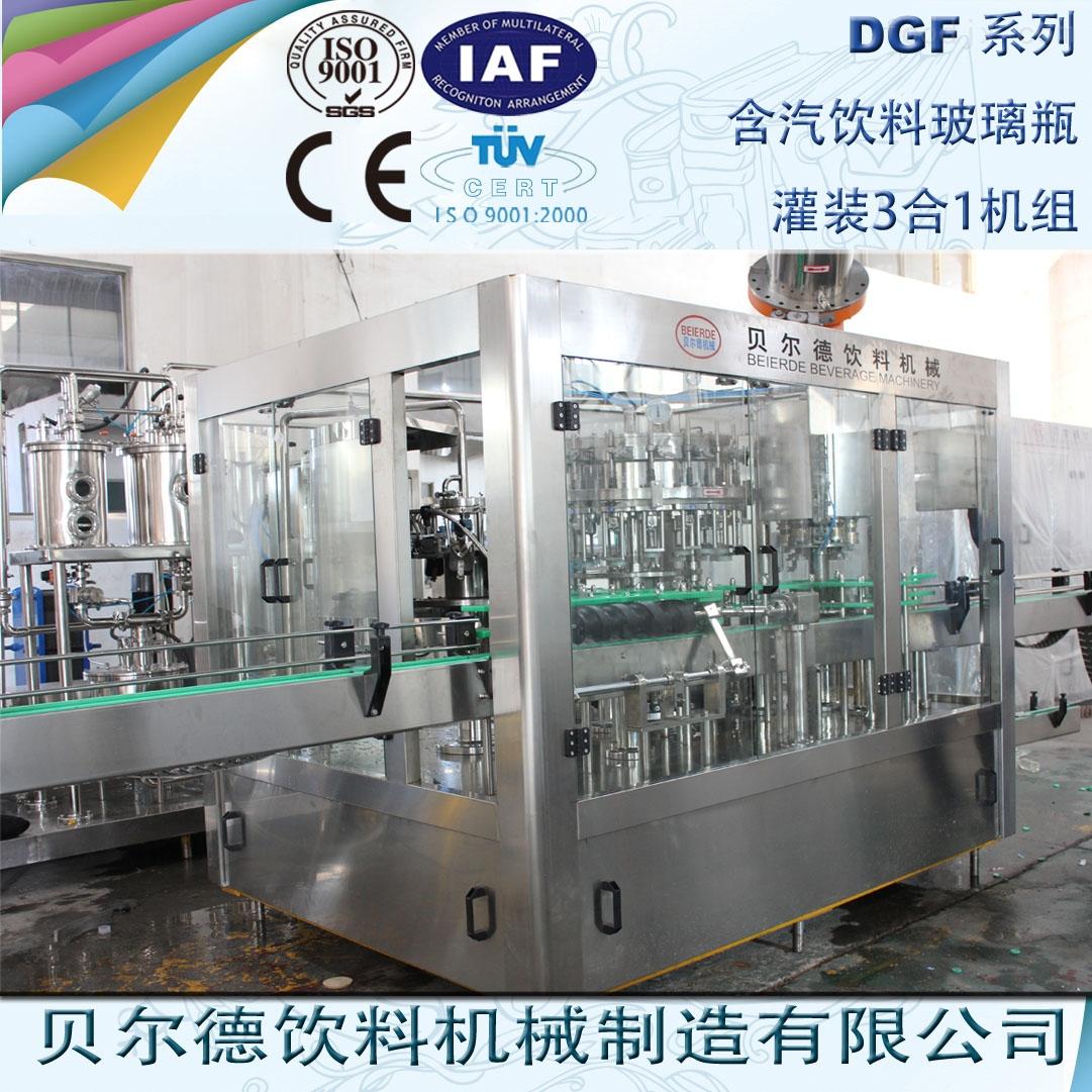玻璃瓶装碳酸含汽饮料生产线
