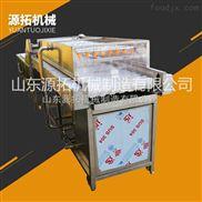 大型不锈钢高压喷淋水果清洗机 毛刷辊果蔬气泡清洗机